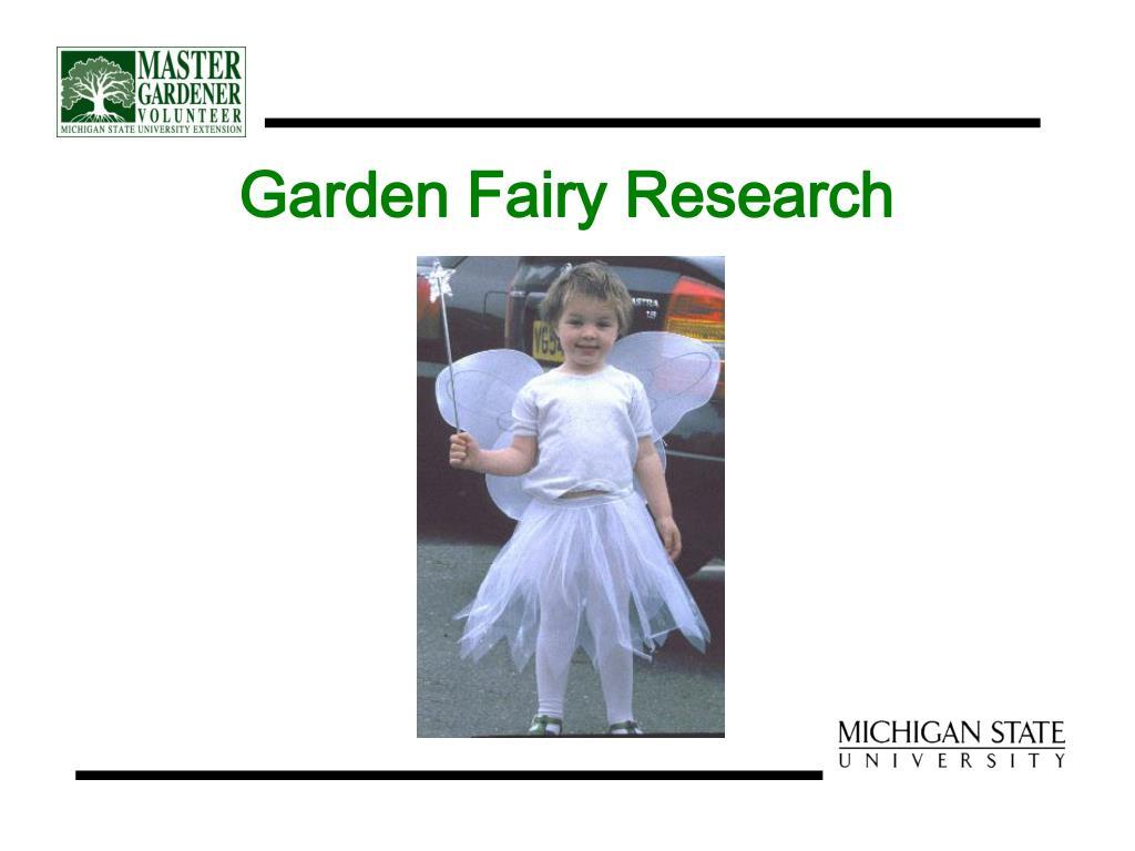 Garden Fairy Research
