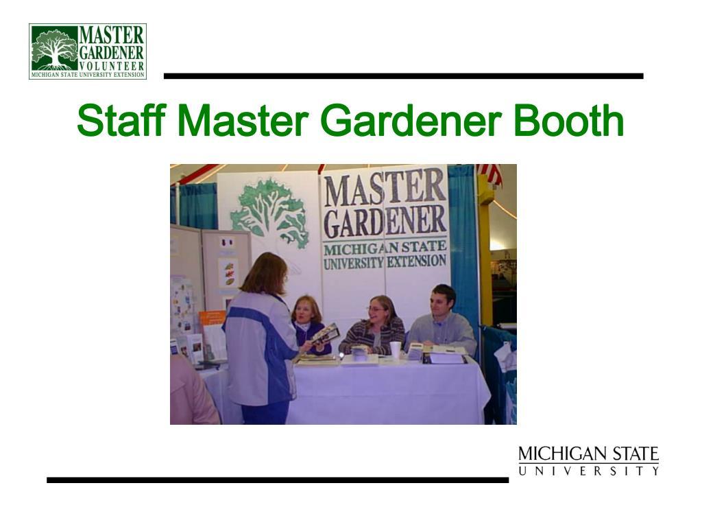 Staff Master Gardener Booth