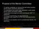 purpose of the mentor committee