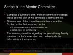 scribe of the mentor committee