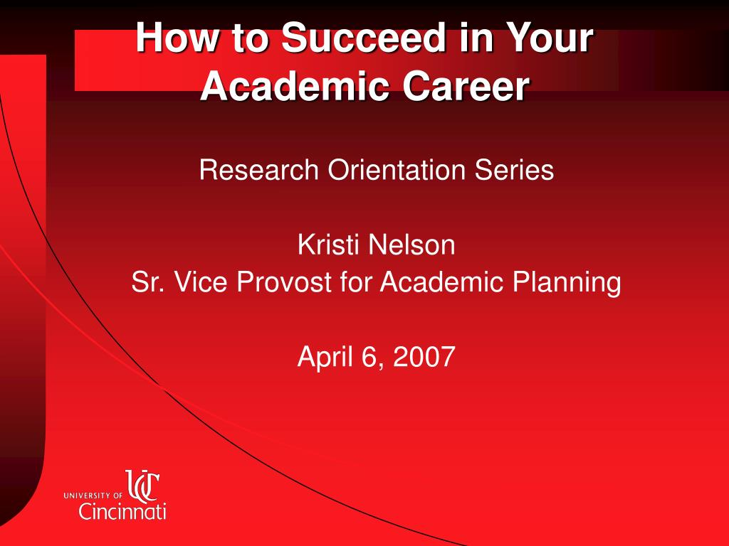 how to succeed in your academic career l.
