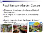 retail nursery garden center