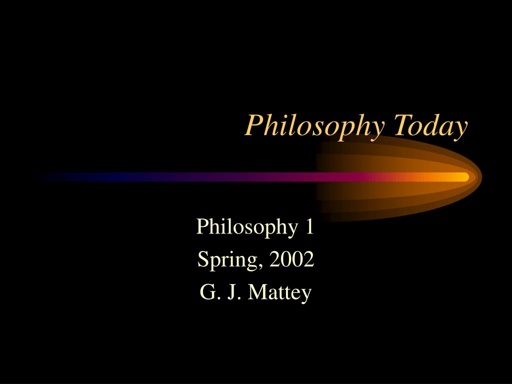 philosophy today l.