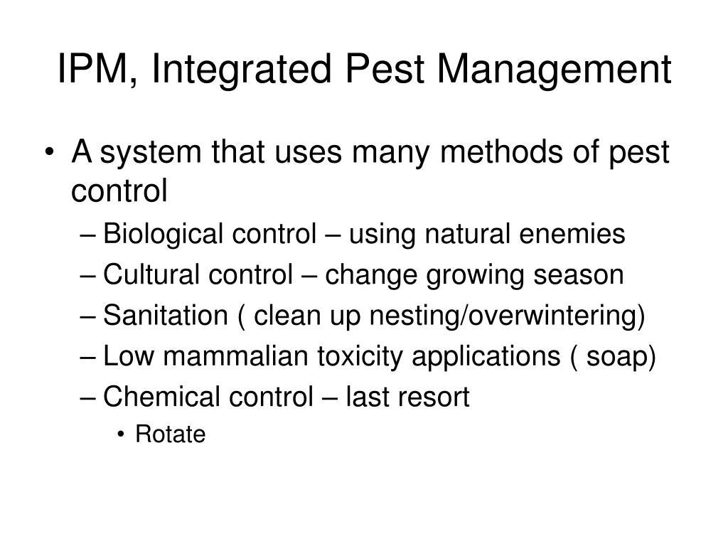 IPM, Integrated Pest Management
