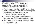 exloiting icmp timestamp requests active approach