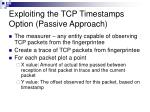 exploiting the tcp timestamps option passive approach