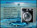 more ways to save water