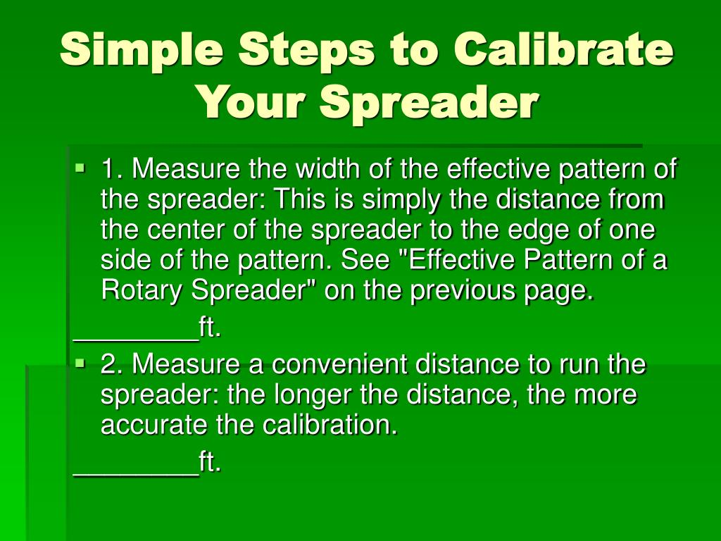 Simple Steps to Calibrate Your Spreader
