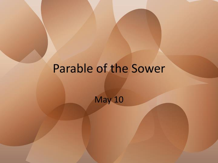 parable of the sower n.