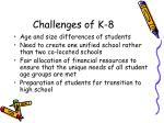 challenges of k 8