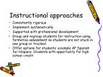 instructional approaches