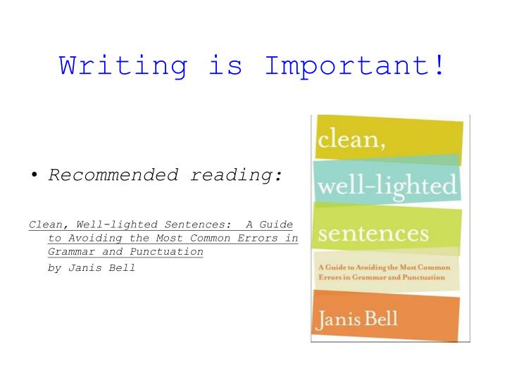 writing is important n.