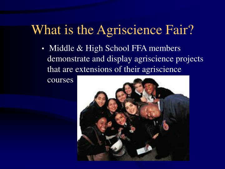 What is the agriscience fair