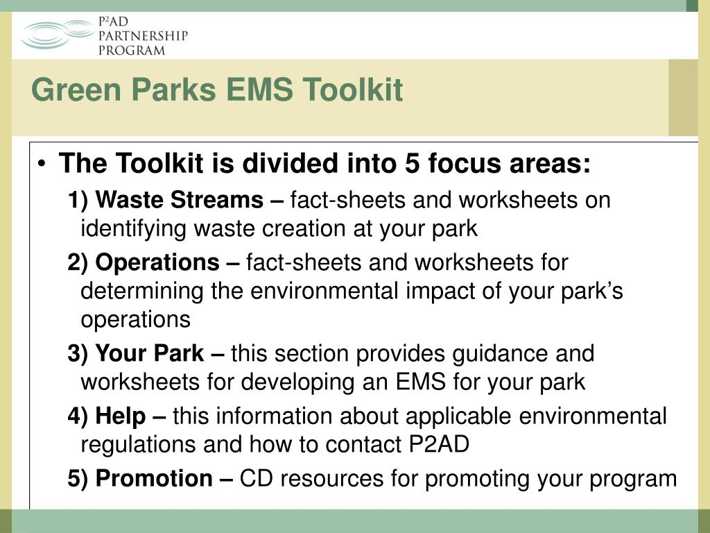 Green Parks EMS Toolkit