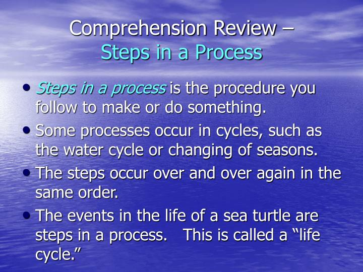 Comprehension Review –