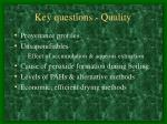key questions quality