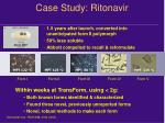 case study ritonavir