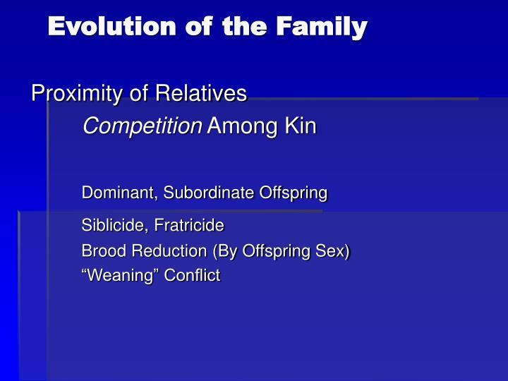 Evolution of the family2