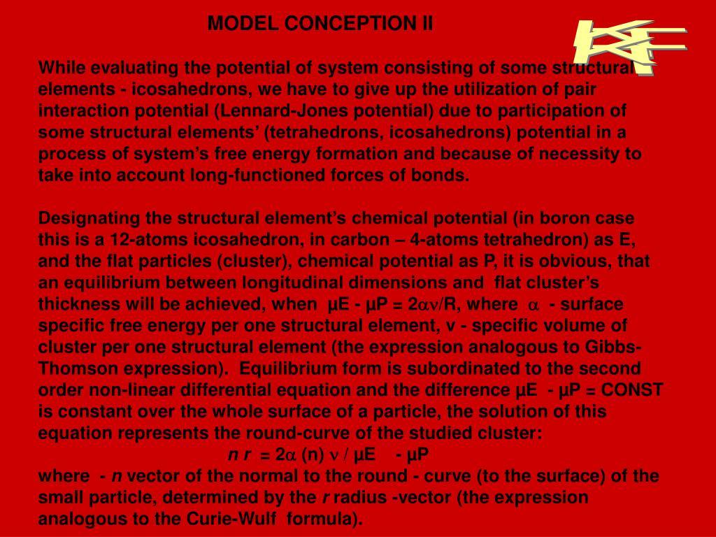 MODEL CONCEPTION II