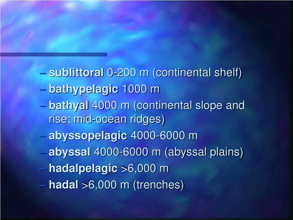 sublittoral