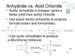 anhydride vs acid chloride