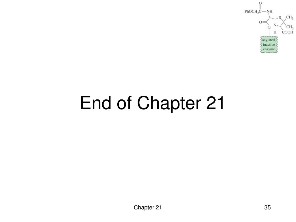 End of Chapter 21