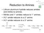 reduction to amines