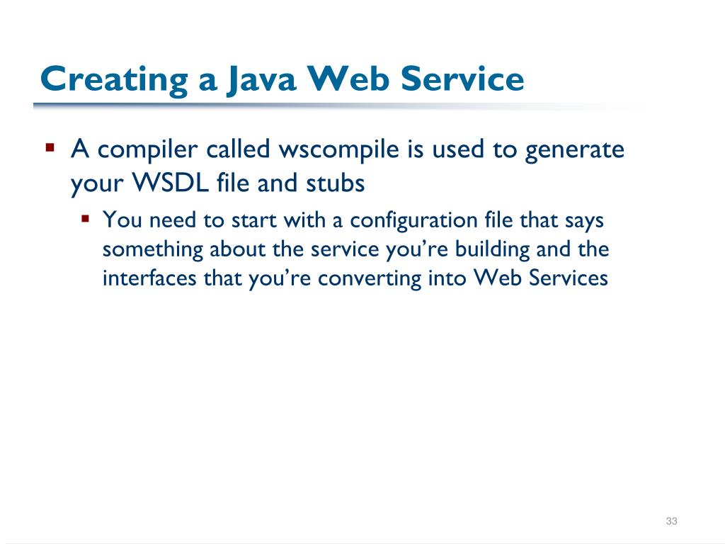 Creating a Java Web Service