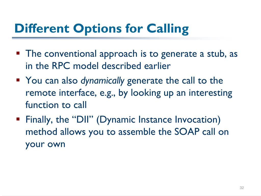 Different Options for Calling