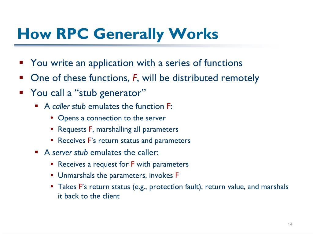 How RPC Generally Works