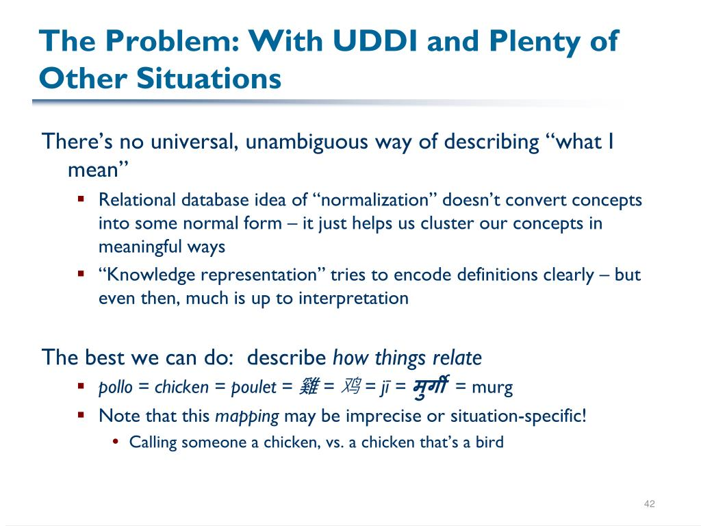 The Problem: With UDDI and Plenty of Other Situations