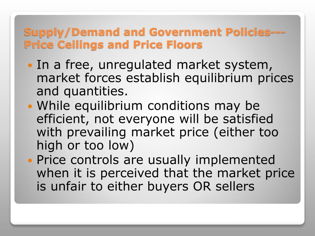 Ppt Price Ceilings And Price Floors Powerpoint