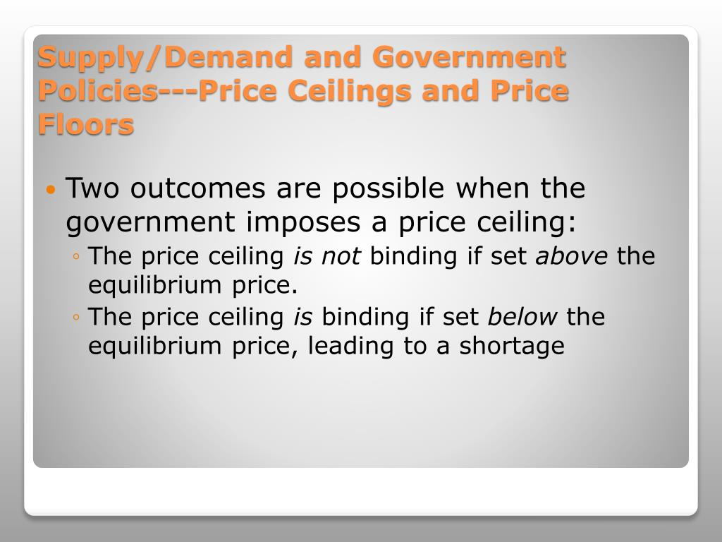 Ppt Price Ceilings And Price Floors Powerpoint Presentation Free Download Id 663500