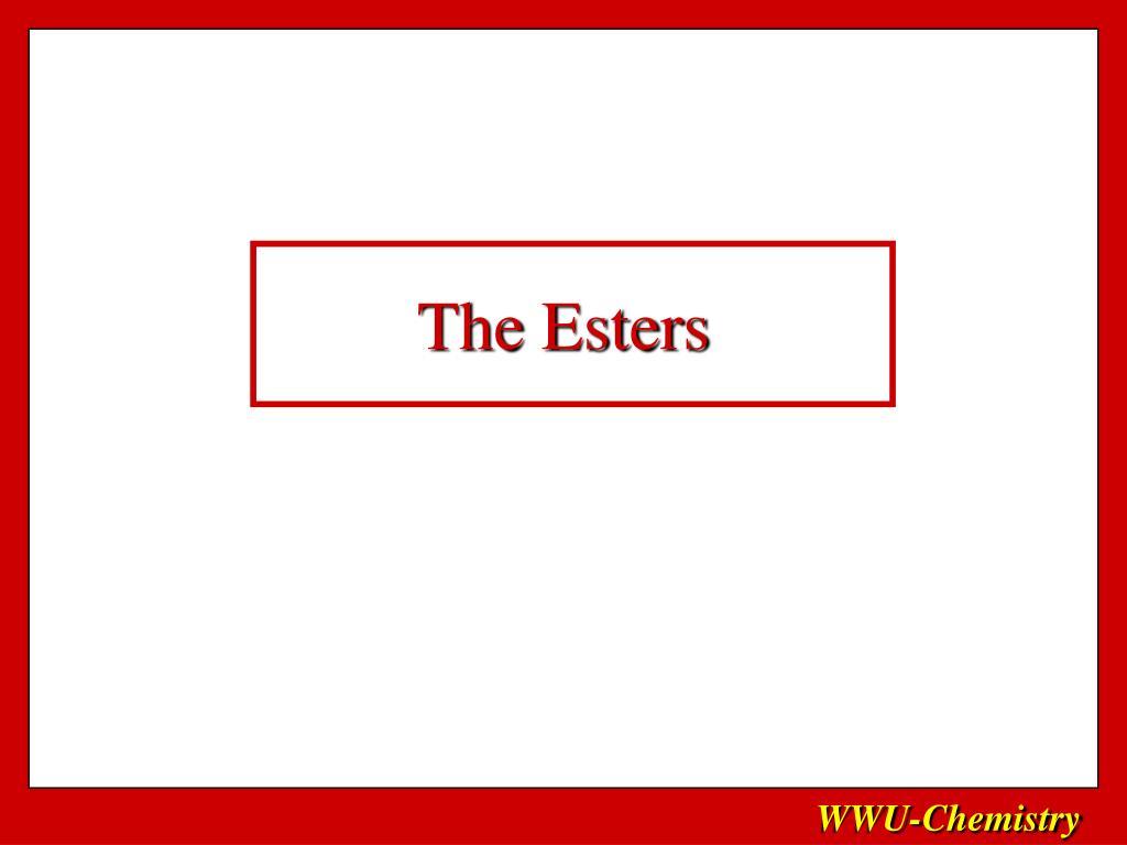 the esters l.