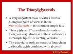 the triacylglycerols