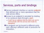 services ports and bindings
