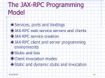 the jax rpc programming model