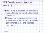 ws development lifecycle contd