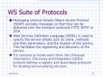 ws suite of protocols