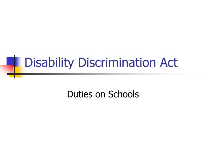 disability discrimination act n.