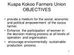 kuapa kokoo farmers union objectives