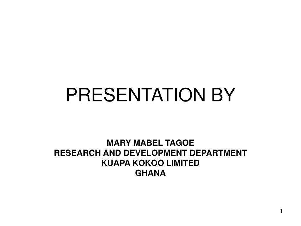 presentation by l.