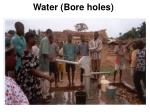 water bore holes
