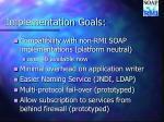 implementation goals