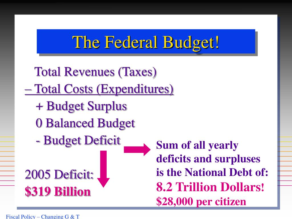 The Federal Budget!