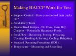 making haccp work for you11