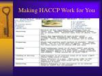 making haccp work for you15