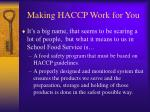 making haccp work for you4