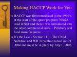 making haccp work for you5