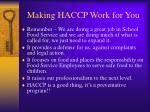 making haccp work for you6